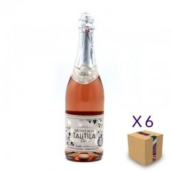 Vino Espumoso Rosado 0,0 SEÑORÍO DE LA TAUTILA (6 ud.)