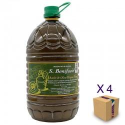 Aceite de Oliva Virgen Extra SAN BONIFACIO Pack 4 Garrafas 5l