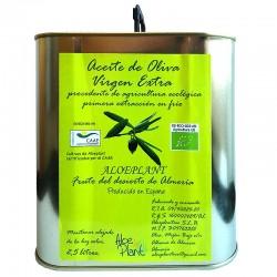 *Aceite de Oliva Virgen Extra Ecológico ALOEPLANT Lata 2,5 l.
