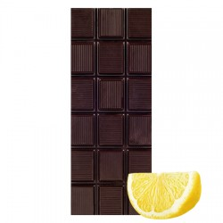 Chocolate Artesano Ecológico Negro 74% Cacao con Limón SABOR ANDALUZ
