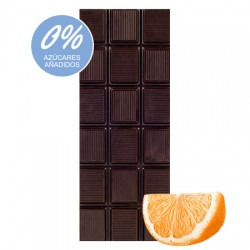 Chocolate Artesano Ecológico Sin Azúcar Negro 74% Cacao con Naranja LA VIRGITANA
