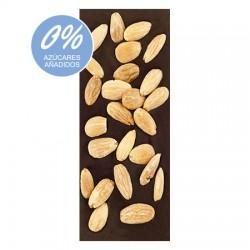 Chocolate Artesano Ecológico Sin Azúcar Negro 74% Cacao con Almendras LA VIRGITANA