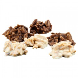 "Bombones ""Roca"" Bandeja Chocolate Artesano Ecológico Blanco LA VIRGITANA"
