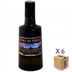 Aceite de Oliva Virgen Extra Arbequina ORO DE NÍJAR (6 botellas de 500 ml.)