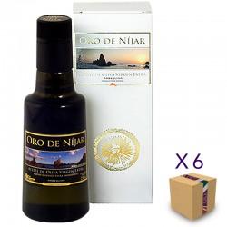 Aceite de Oliva Virgen Extra Arbequina ORO DE NÍJAR (6 botellas de 500 ml. con Estuche)