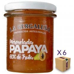 Mermelada de Papaya LA GERGALEÑA 230 gr. (6 uds.)