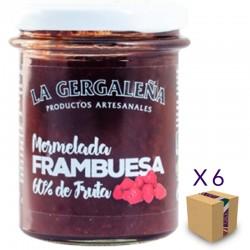 Mermelada de Frambuesa LA GERGALEÑA 230 gr. (6 uds.)