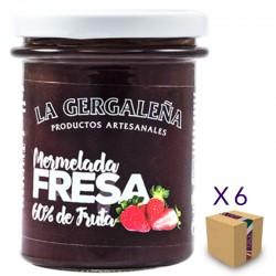 Mermelada de Fresa LA GERGALEÑA 230 gr. (6 uds.)