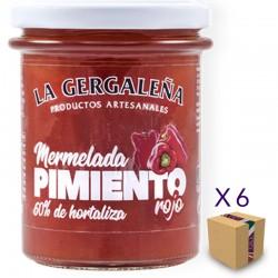 Mermelada de Pimiento Rojo LA GERGALEÑA 230 gr. (6 uds.)