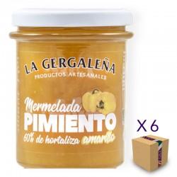 Mermelada de Pimiento Amarillo LA GERGALEÑA 230 gr. (6 uds.)