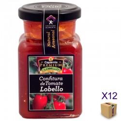 Confitura de Tomate Lobello CAPARRÓS PREMIUM LA GERGALEÑA 190 gr. (12 uds.)