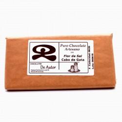 Chocolate Artesano con Flor de Sal de Cabo de Gata DE AUTOR