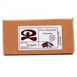 Chocolate Artesano 70% Cacao Puro DE AUTOR