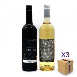 """Vino 0,0 SEÑORÍO DE LA TAUTILA (Pack Surtido """"BASIC"""" 6 ud.)"""