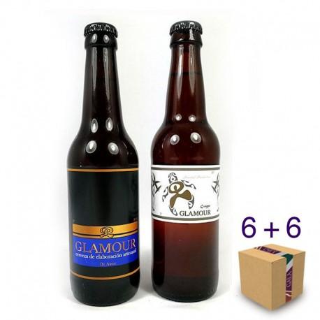 Caja Cerveza Glamour + Ginger Glamour (6+6 uds.)