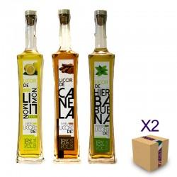 Pack Surtido de LICORES NATURALES (6 ud. de 500 ml.)
