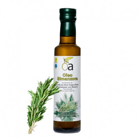 Aceite de Oliva Virgen Extra Aromatizado Con Romero ÓLEO ALMANZORA (varios formatos)