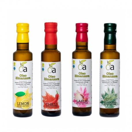 Pack Surtido Degustación Aceites Aromatizados ÓLEO ALMANZORA