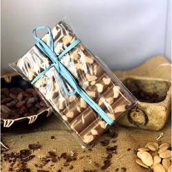 Chocolate Artesano con Leche, Caramelo y Almendras APISIERRA (tableta 300 gr.)