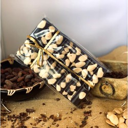 Chocolate Artesano Negro con Almendras APISIERRA (tableta 300 gr.)