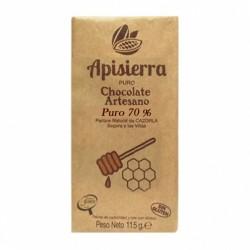 Chocolate Artesano Negro Puro 70% APISIERRA
