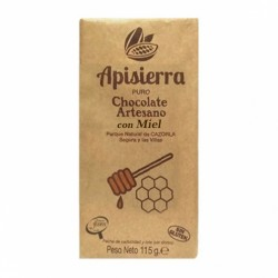 Chocolate Artesano Negro con Miel APISIERRA