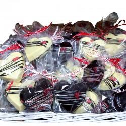 Corazón Especial Regalo de Chocolate Artesano Negro/Blanco relleno APISIERRA