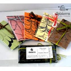 Chocolate Artesano Blanco y con Sabores APISIERRA (varios sabores)