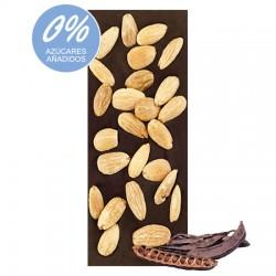 Chocolate Artesano Ecológico Sin Azúcar Negro 74% Cacao con Algarroba y Almendras SABOR ANDALUZ