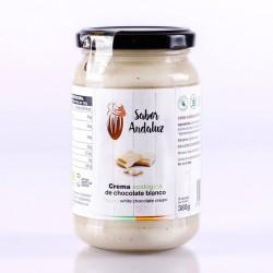 Crema de Cacao Blanco Chocolate Artesano Ecológico SABOR ANDALUZ (380 gr.)