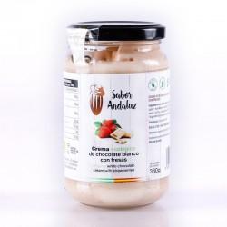 Crema de Cacao con Fresas Chocolate Artesano Ecológico SABOR ANDALUZ (380 gr.)