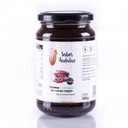 Crema de Cacao Negro Chocolate Artesano Ecológico SABOR ANDALUZ (380 gr.)