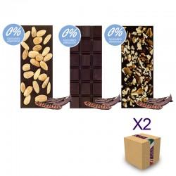 "Chocolate Artesano Ecológico Algarroba Sin Azúcar SABOR ANDALUZ (Pack Surtido ""SIN AZÚCAR"" 6 ud.)"