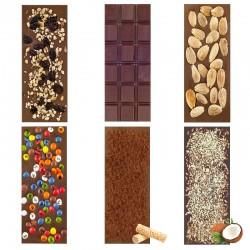 "Chocolate Artesano Ecológico con Leche SABOR ANDALUZ (Pack Surtido ""CON LECHE"" 6 ud.)"