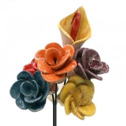Juego 6 Flores ALFARERÍA LOS PUNTAS